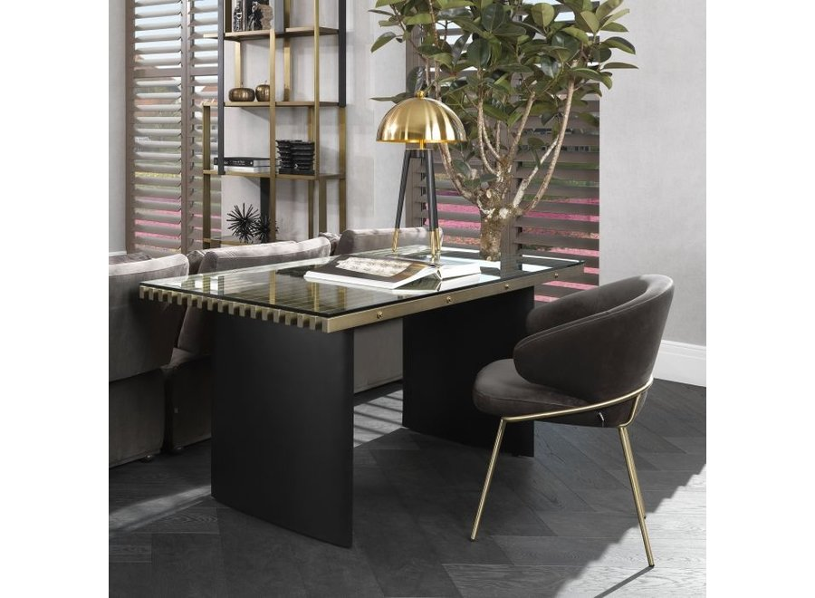 Eetkamerstoel 'Kinley' - Savona dark grey velvet