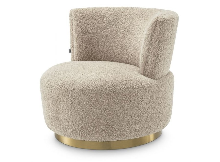 Draai Fauteuil Alonso - Canberra sand