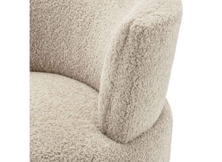 Draai Fauteuil 'Alonso' - Canberra sand