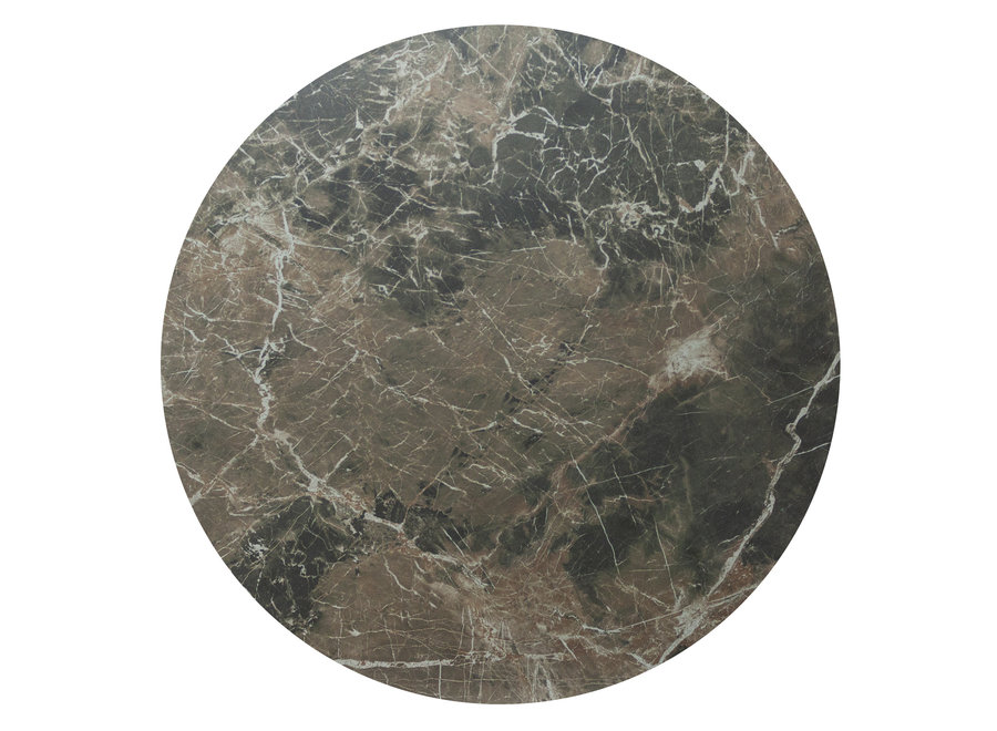 Bartafel 'Soho' Round - Emperador Ceramic