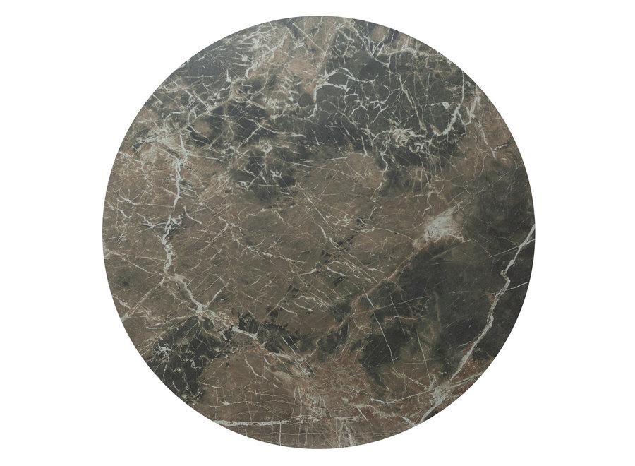 Bistro tafel 'Soho' Round - Emperador Ceramic