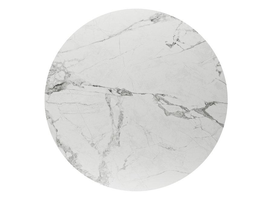 Bistro tafel 'Soho' Round - White Ceramic