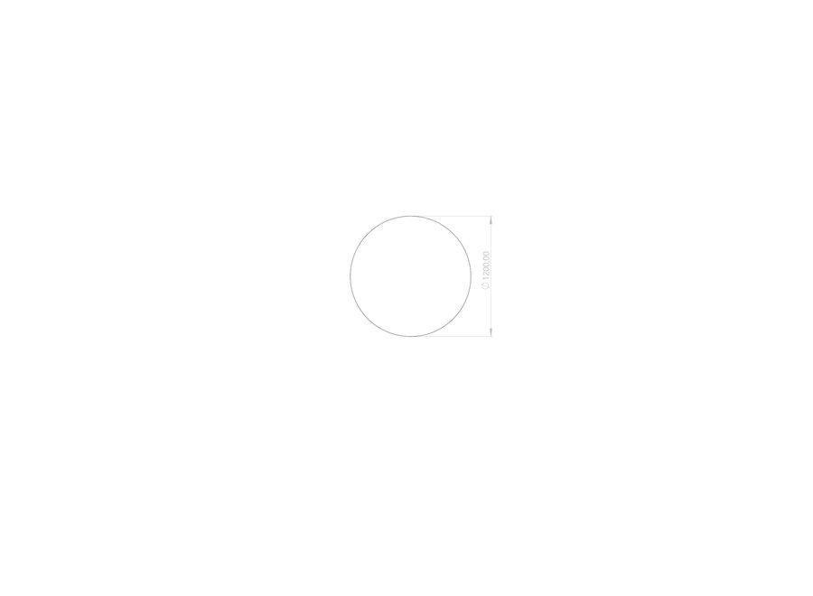 Eettafel 'Ronda' - Thundernight Ceramic - S