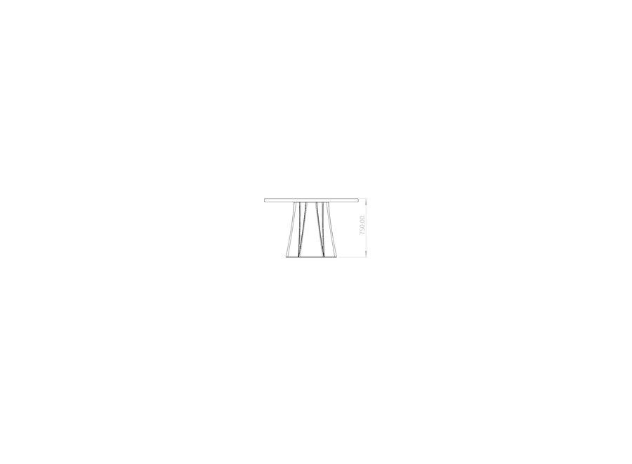 Eettafel 'Boston' - Wood Black - S