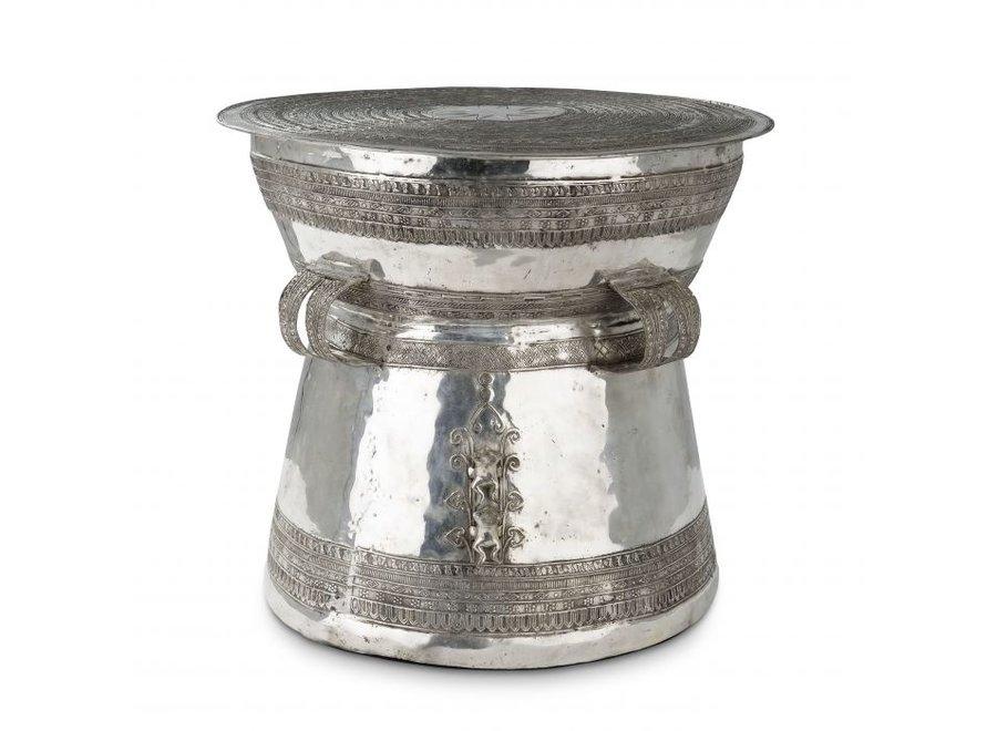Bijzettafel Drum Thai - Silver