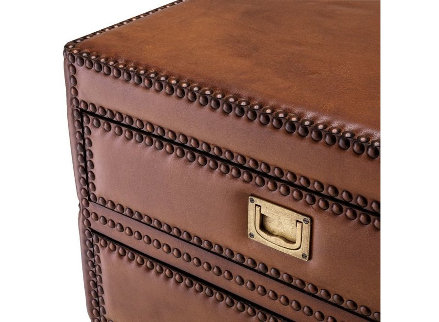 Bijzettafel 'Flemming' - Tabacco Leather