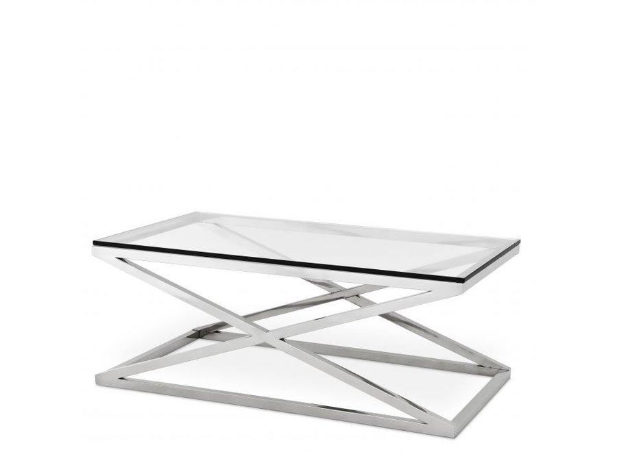 Glazen salontafel - Criss Cross