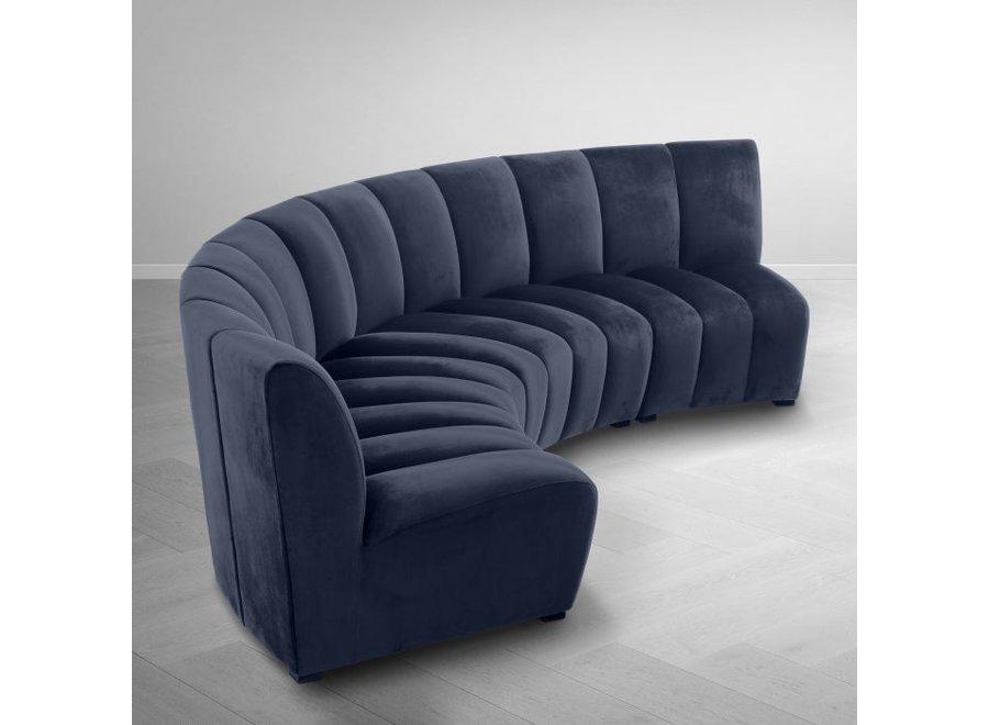 Sofa 'Lando' -  Savona midnight blue velvet