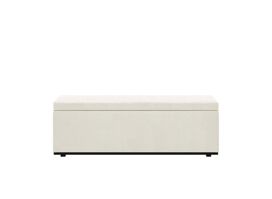 Bed bench 'Porto' - Yellowstone Fabric Beige
