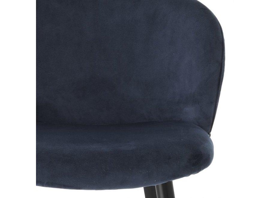 Counterstoel 'Volante' - Savona midnight blue velvet