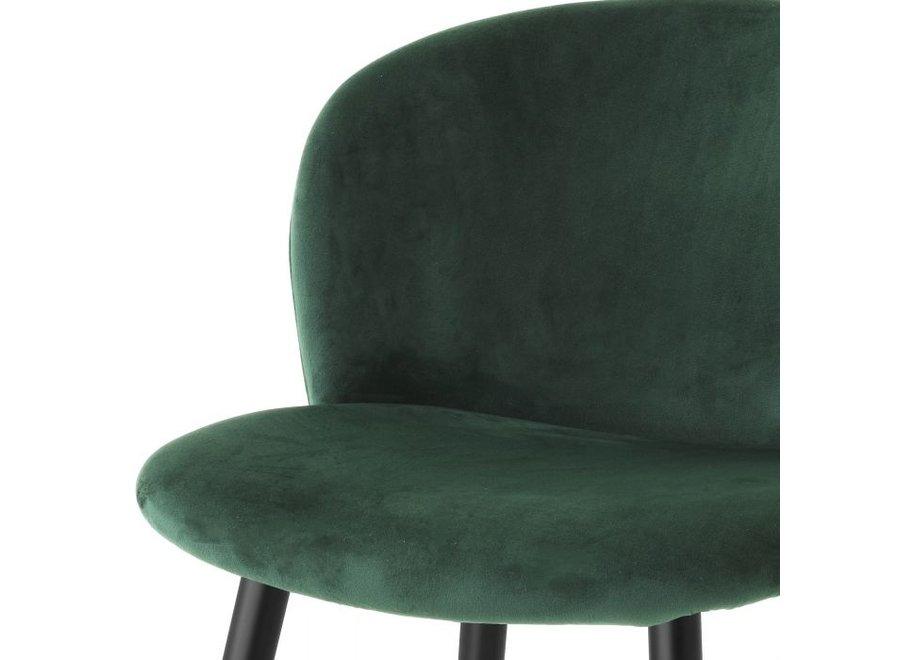 Counterstoel 'Volante' - Roche dark green velvet