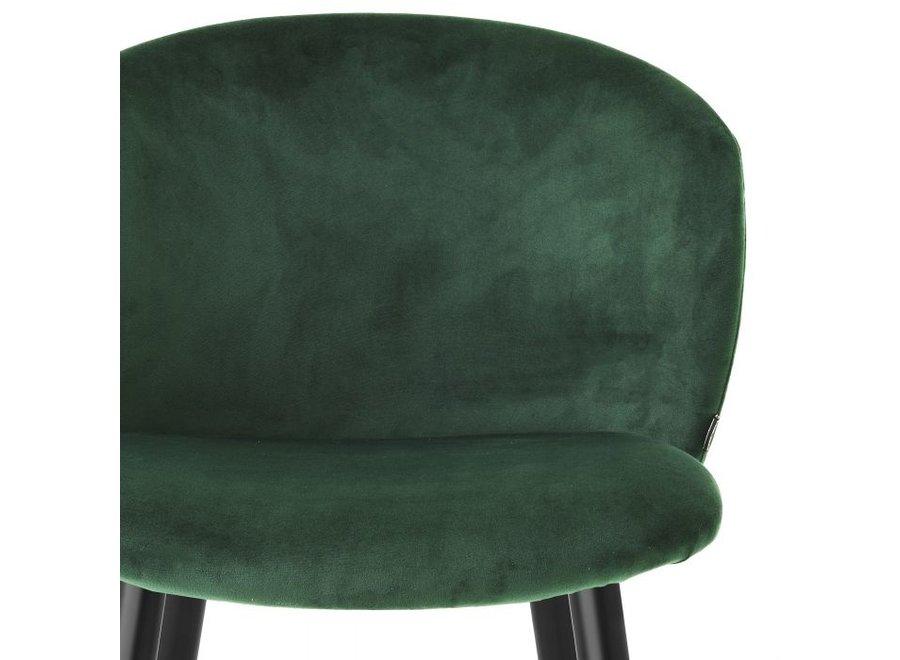 Barstoel 'Volante' - Roche dark green velvet