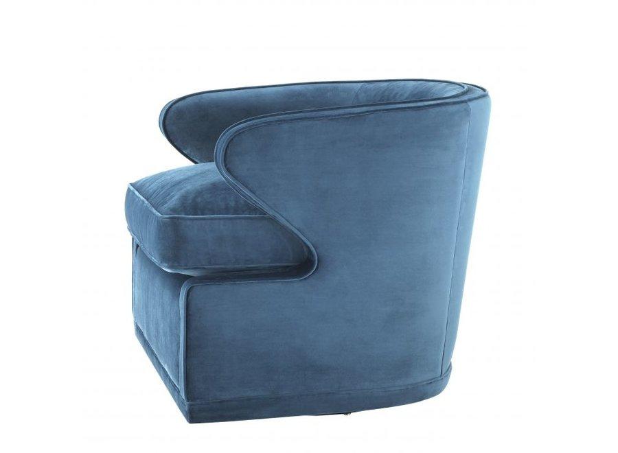 Draaistoel 'Dorset' - Roche blue velvet