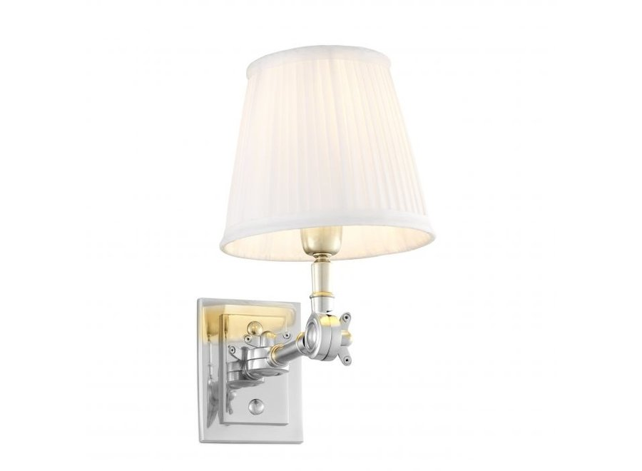 Wall lamp 'Wentworth'  single - nickel