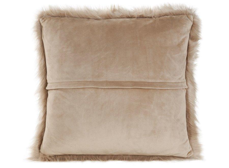 Cushion fur 'Prairie Wolf'