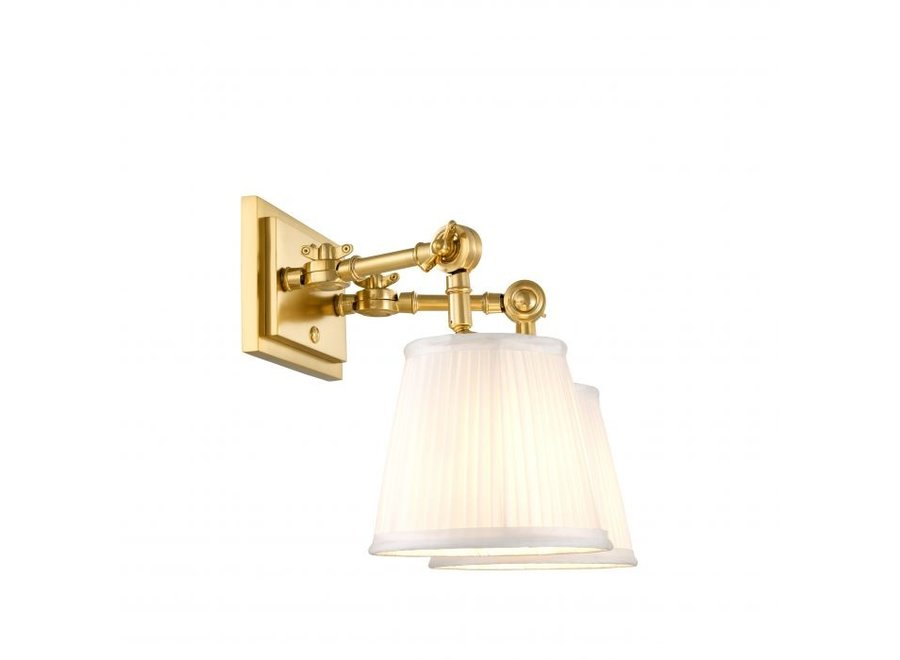 Wall lamp 'Wentworth'  double - gold
