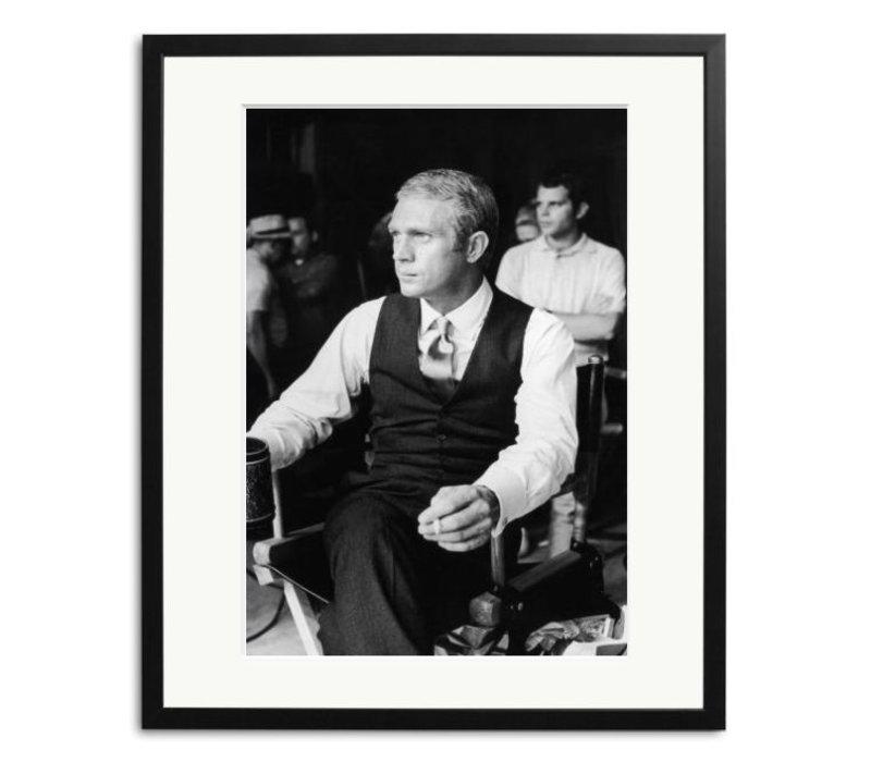 Steve McQueen auf dem Set von ' The Thomas Crown affair'
