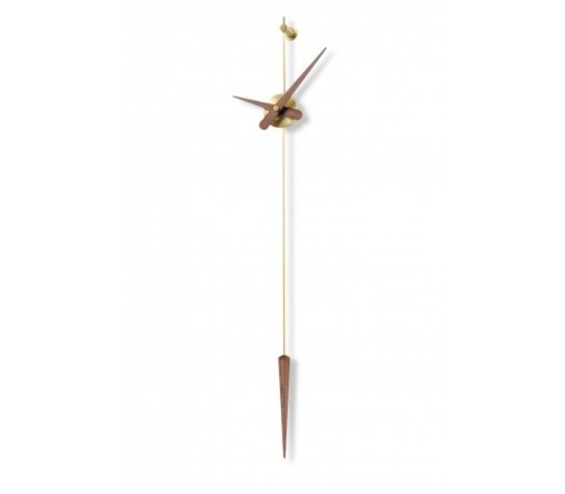 'Punta Y Coma Gold n' pendulum clock with silent operation