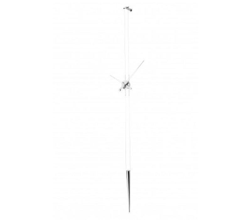 Stainless steel clock 'Pendulo' adjustable in length