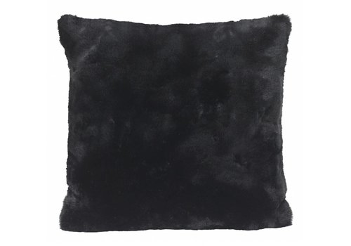 Winter-Home Kussen bont - Seal Black