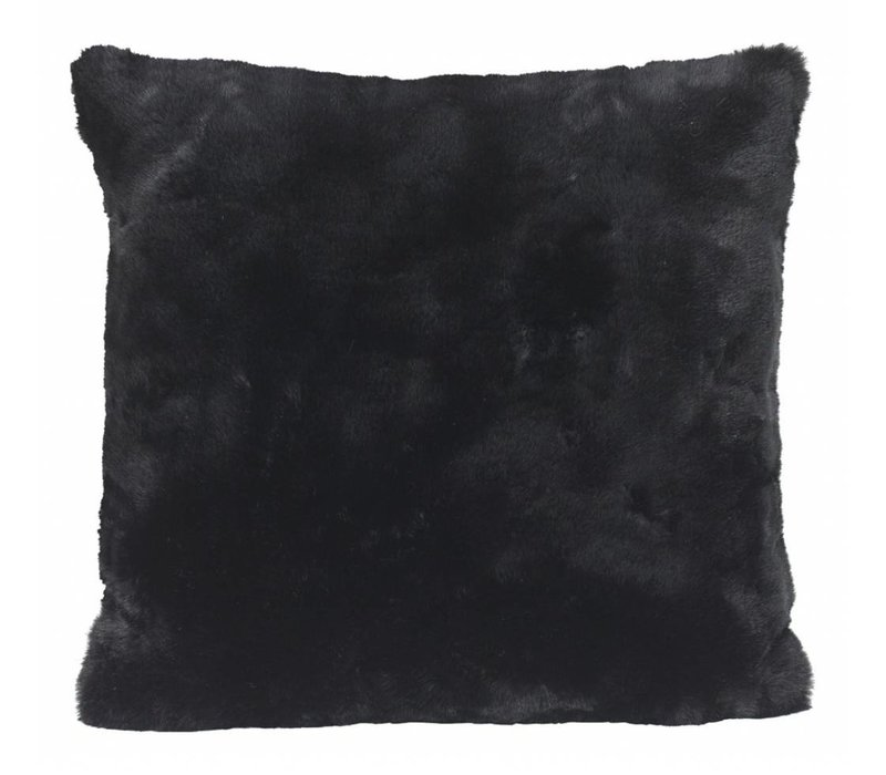 Fellkissen 'Seal Black' in 45cm x 45cm