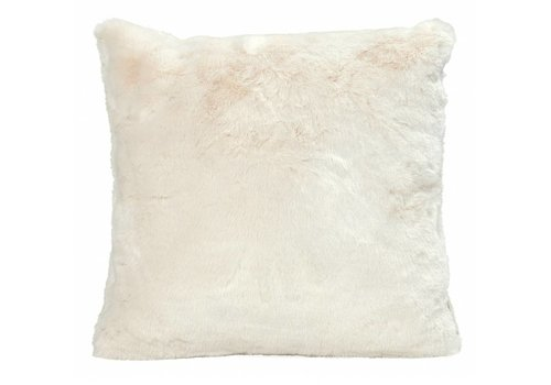 Winter-Home Cushion faux fur 'Seal Ivory'
