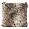 Winter-Home Cushion faux fur 'Yukonwolf'