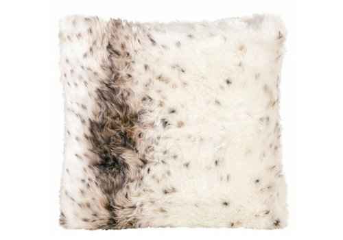 Winter-Home Cushion faux fur 'Lynx'