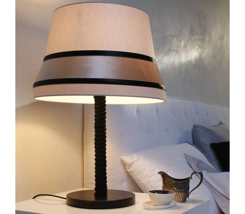 table lamp 'Audrey' decorated with silk detail