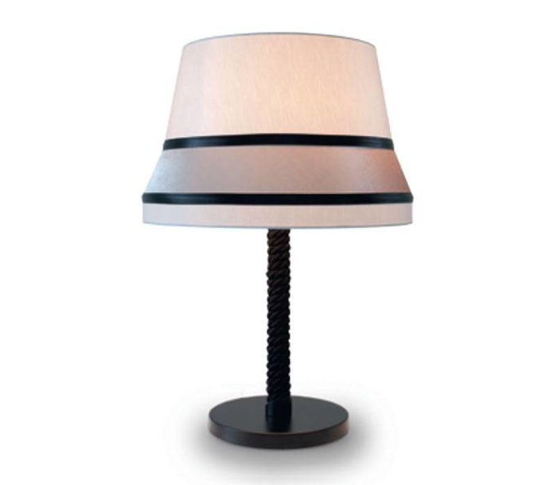 tafel lamp 'Audrey' gedecoreerd met accenten van zijde