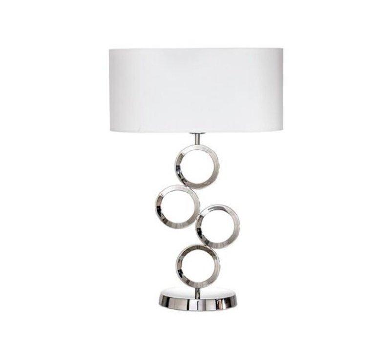 Grote tafellamp met sierlijke voet, hoogte 64cm