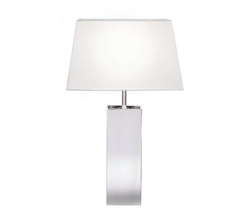 Tafellamp met vierkante lampenkap, hoogte 53cm