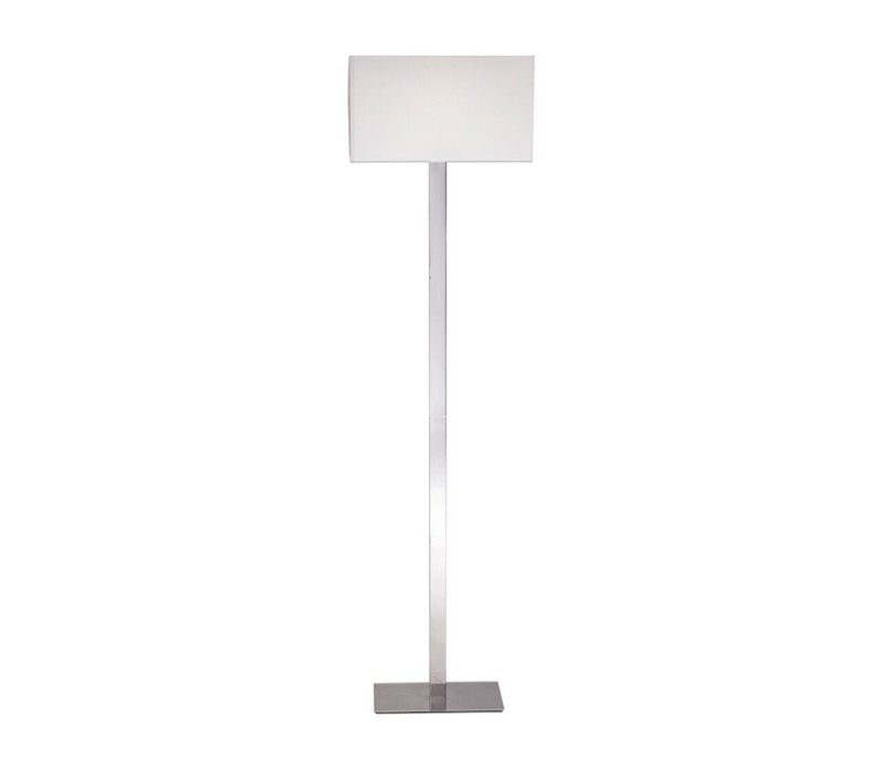 Modern floor lamp steel with a shade in white