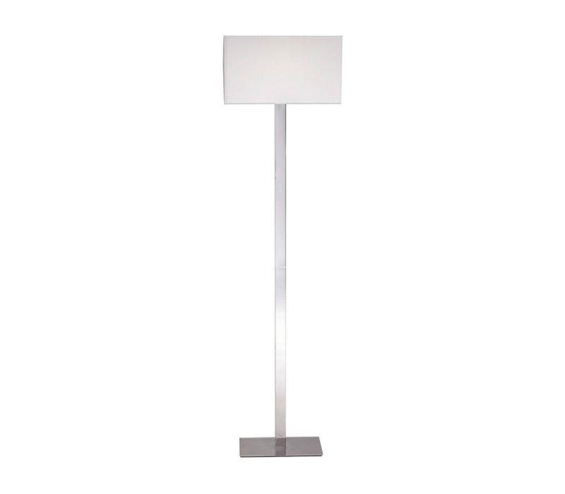 Witte Staande Lamp.Braid Moderne Staande Lamp Van Glanzend Staal Met Witte Lampenkap