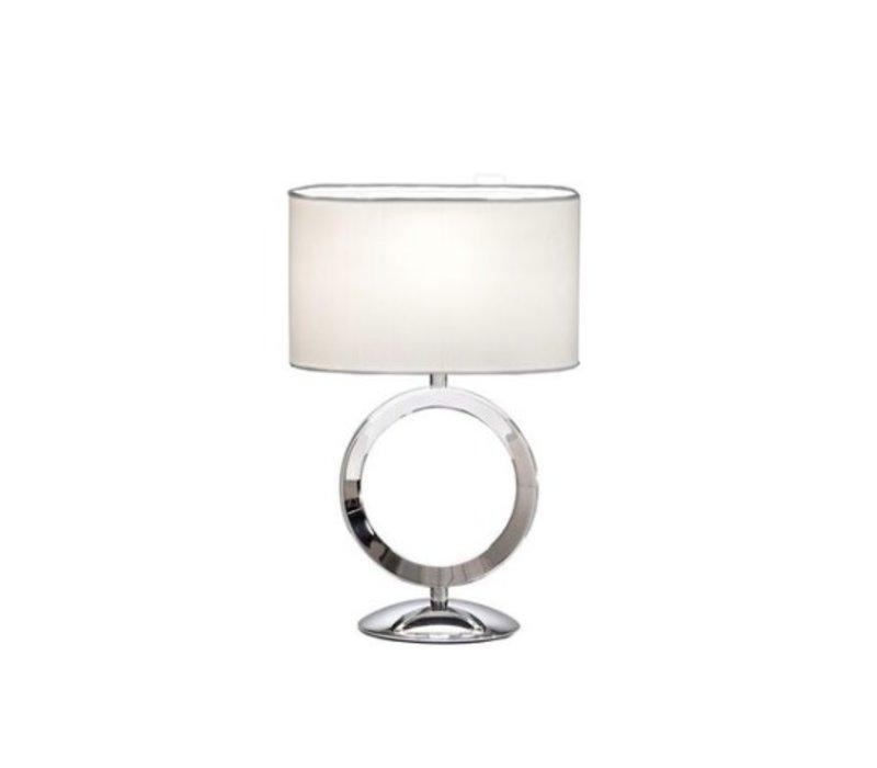 Kleine tafellamp met sierlijke ring, hoogte 31cm