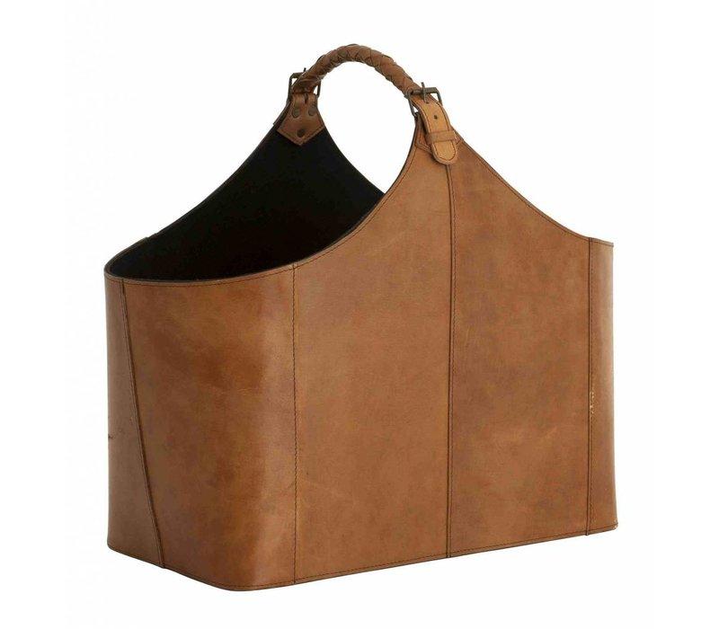 Zeitschriftenhalter aus leder 'Bag Brunello' 49 x 28 x 45 cm