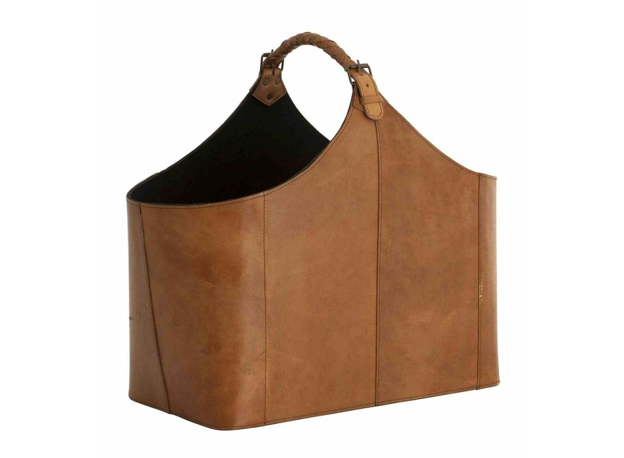 Lectuurmand leer 'Bag Brunello', 49x 28 x 45cm