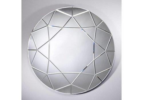 Deknudt grote ronde spiegel 'Round Diamond'