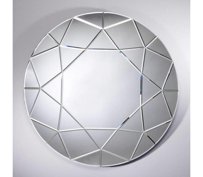 Deknudt Großer Runder Spiegel Round Diamond Durchmesser 90 Cm
