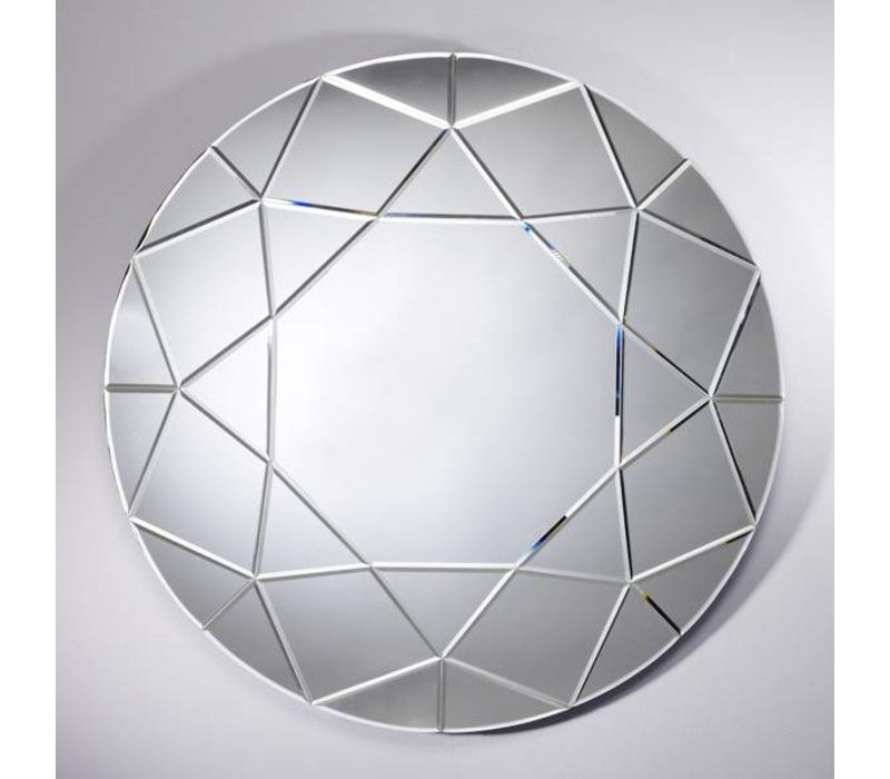 Deknudt Large Round Mirror Round Diamond 90 Cm Wilhelmina Designs