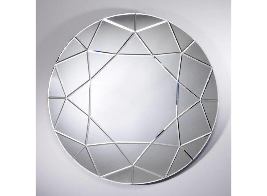 grote ronde spiegel 'Round Diamond' Diameter 90 cm