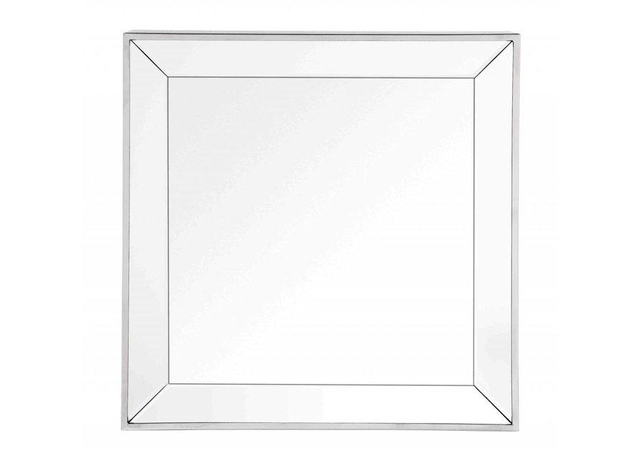 Vierkante spiegel met spiegelglazen lijst 60x60cm