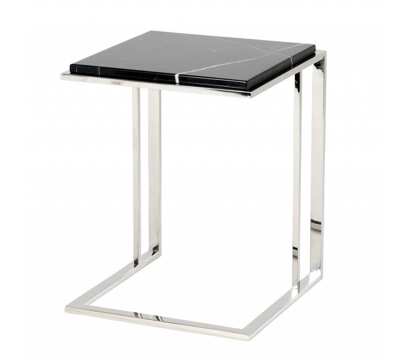 Marble side table 'Cocktail' 45 x 45 x 58cm (h)