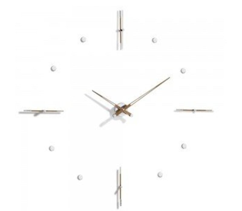 'Mixto' is a huge clock available in 110, 125 or 155 cm handmade in Spain