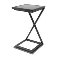 Side table 'Cross black', 33 x 33 x 60 cm (h)