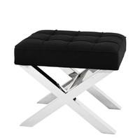 Small stool black 'Beekman Place'