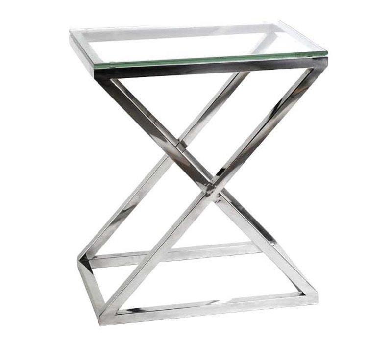 Couchtisch Glas - Criss Cross High 62 x 42 x 72cm (h)