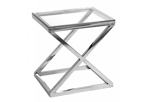 Eichholtz Glass Side table - Criss Cross