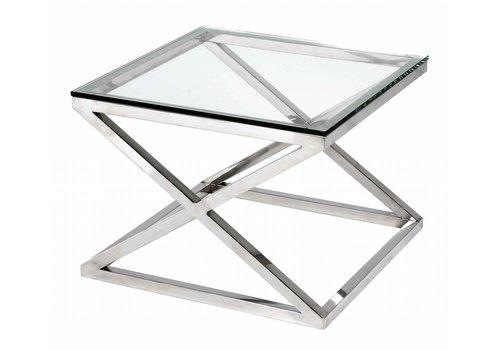 EICHHOLTZ Glazen bijzettafel vierkant - Criss Cross