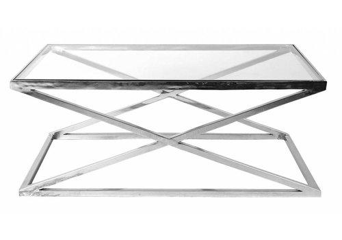 EICHHOLTZ Glass coffee table - Criss Cross